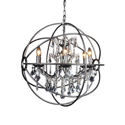 Ormskirk 4-Light Globe pendant Size: Small