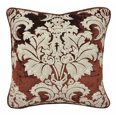 Newton Aycliffe VelvetThrow Pillow Color: Ginger