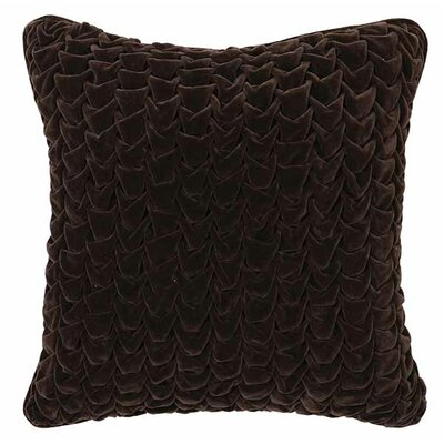 Jessica Cotton Velvet Throw Pillow Color: Chocolate