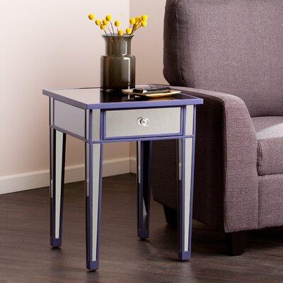 Norton Mirror End Table Finish: Purple