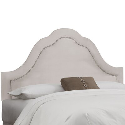 Brunella Arch Inset Nail Button Upholstered Panel Headboard Upholstery: Dove, Size: King