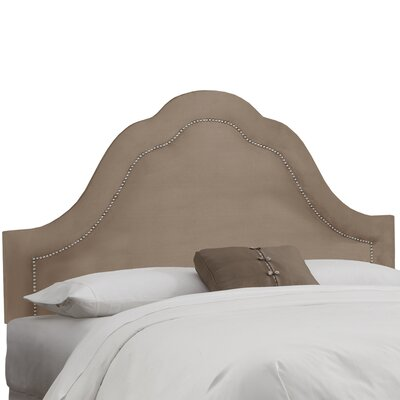 Brunella Arch Inset Nail Button Upholstered Panel Headboard Upholstery: Mondo, Size: Queen