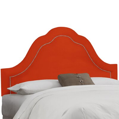 Brunella Arch Inset Nail Button Upholstered Panel Headboard Size: King, Upholstery: Mango