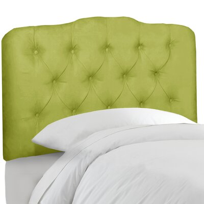 Roselare Tufted Upholstered Panel Headboard Size: Twin, Upholstery: Kiwi