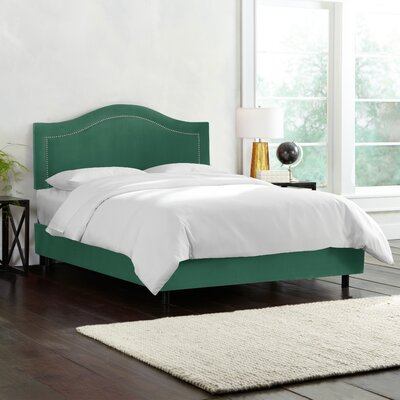 Doleman Upholstered Wood Frame Panel Bed Size: Twin, Color: Velvet - Laguna