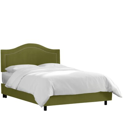 Brunella Upholstered Wood Frame Panel Bed Size: Twin, Upholstery: Applegreen