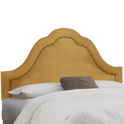 Brunella Arch Inset Nail Button Upholstered Panel Headboard Upholstery: Moccasin, Size: Twin