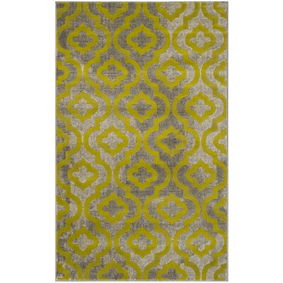 Krenwik Light Gray/Green Area Rug Rug Size: 3 x 5