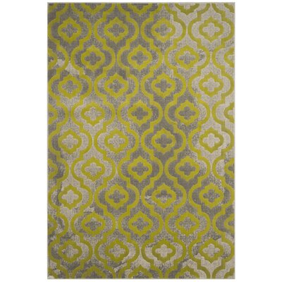 Manorhaven Light Gray/Green Area Rug Rug Size: Rectangle 52 x 76
