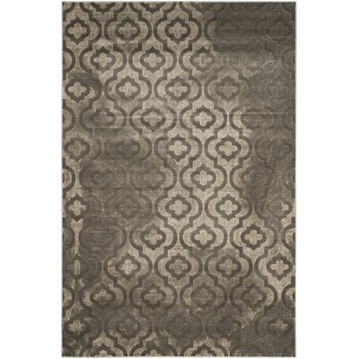 Manorhaven Gray/Charcoal Area Rug Rug Size: Rectangle 6 x 9