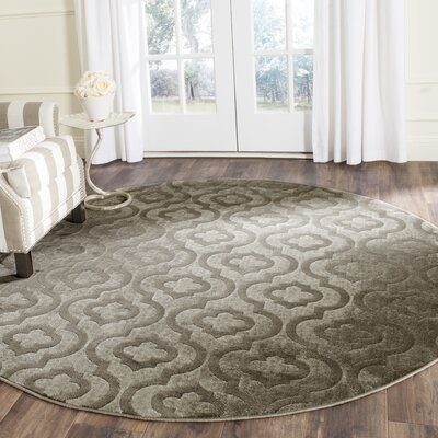 Manorhaven Gray/Charcoal Area Rug Rug Size: Runner 24 x 67