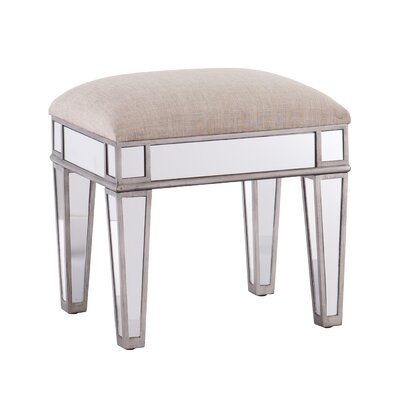Kalia Mirrored Vanity Stool