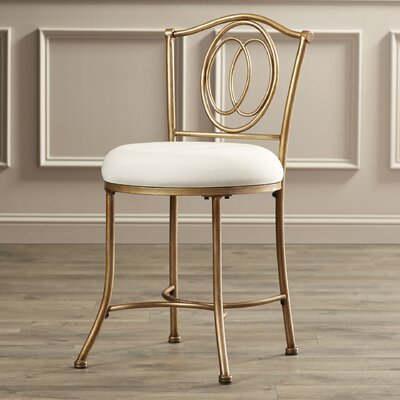 Beckett Vanity Stool in Golden Bronze