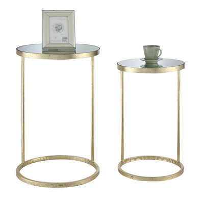 Rumsey 2 Piece End Table Set Finish: Antique Gold