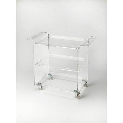 House of Hampton Loft Crystal Clear Acrylic Trolley Server