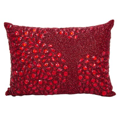 Hertzog Lumbar Pillow Color: Red, Size: 10 H x 14 W