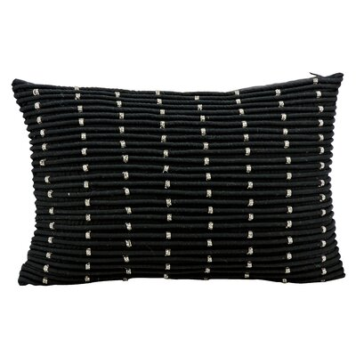 Saltash 100% Lumbar Pillow Color: Black