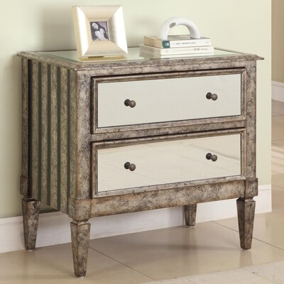 Harrison Mirrored 2 Drawer Accent Chest