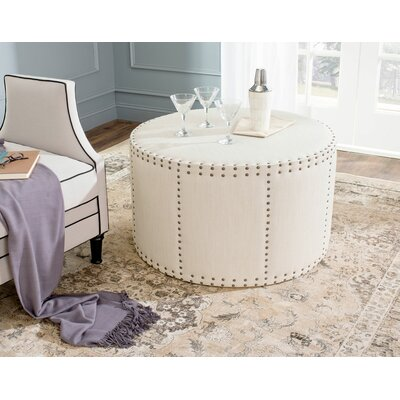David Ottoman Upholstery: Beige