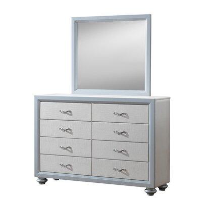Hopper 8 Drawer Dresser Finish: White/Gray
