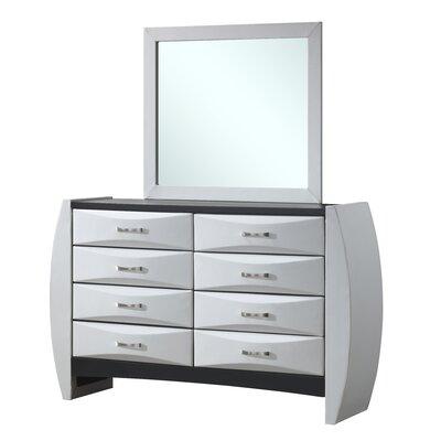 Hopper 8 Drawer Dresser Finish: White