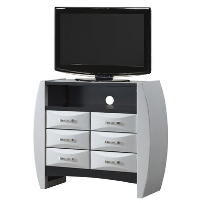 Charee 6 Drawer Media Chest Color: White