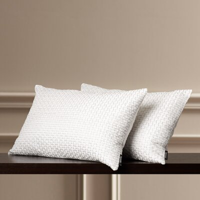 Box Stitch Poly Dupion Lumbar Pillow Color: Silver