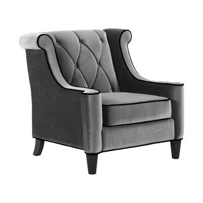 Winslet Velvet Arm Chair Color: Cream
