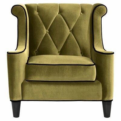 Carressa Wingback Armchair Upholstery: Green