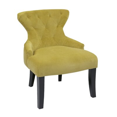Elvie Upholstered Side Chair Upholstery: Basil Velvet