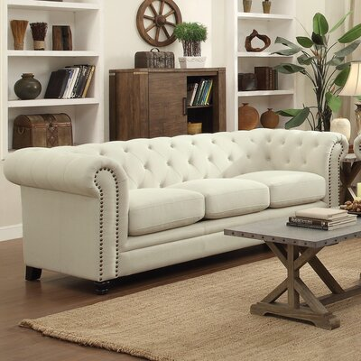 Willa Arlo Interiors WRLO6528 Dalila Upholstered Chesterfield Sofa