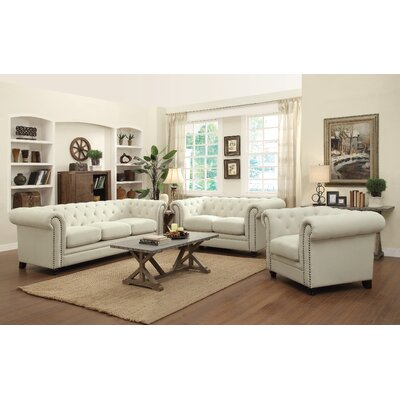 Willa Arlo Interiors WRLO6529 Dalila Chesterfield Loveseat