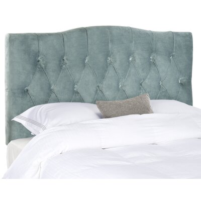 Patton Upholstered Panel Headboard Size: Full, Upholstery: Wedgwood Blue