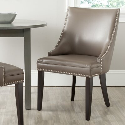 Katherina Side Chair (Set of 2) Upholstery: Bicast Leather - Clay