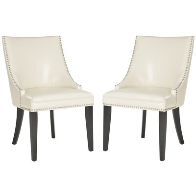 Katherina Upholstered Dining Chair Color: Flat Cream