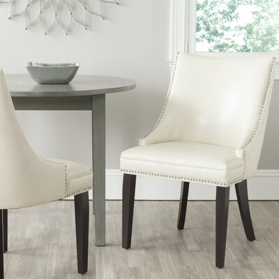 Katherina Side Chair (Set of 2) Upholstery: Bicast Leather - Flat Cream
