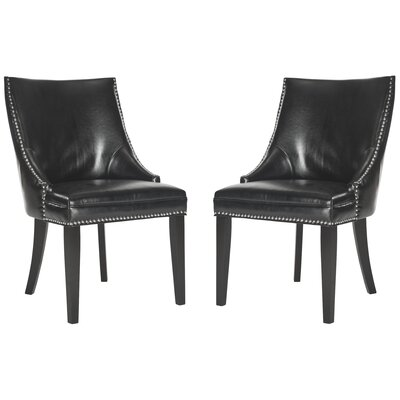 Katherina Upholstered Dining Chair Color: Black