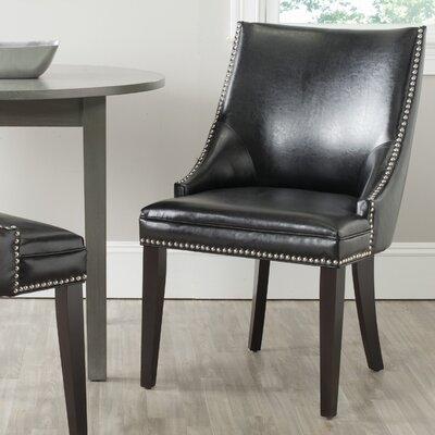 Katherina Side Chair (Set of 2) Upholstery: Bicast Leather - Black
