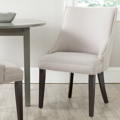 Katherina Side Chair (Set of 2) Upholstery: Fabric - Taupe
