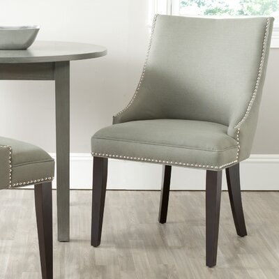 Katherina Side Chair (Set of 2) Upholstery: Fabric - Granite