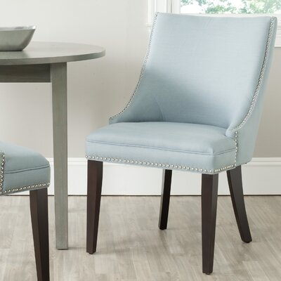 Katherina Side Chair (Set of 2) Upholstery: Fabric - Light Blue