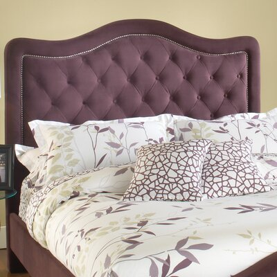 Broxburne Upholstered Panel Headboard Size: Queen, Upholstery: Purple