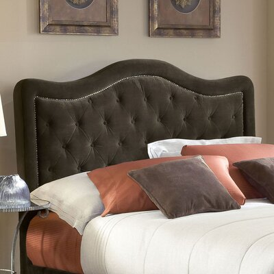 Broxburne Upholstered Panel Headboard Size: Queen, Upholstery: Chocolate