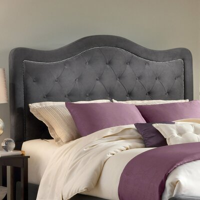 Broxburne Upholstered Panel Headboard Size: Queen, Upholstery: Pewter