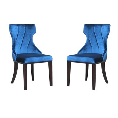 Sutherland Upholstered Dining Chair Color: Indigo Blue