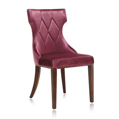 Sutherland Upholstered Dining Chair Color: Burgundy