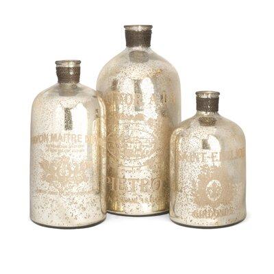 3 Piece Decorative Bottle Set