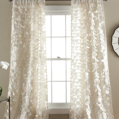Ira Ruffle Rod Pocket Single Curtain Panel