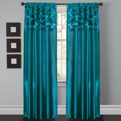 Circle Appliques Rod Pocket Curtain Panel