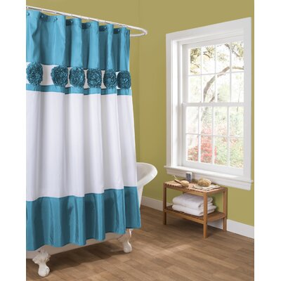 Ozara Shower Curtain Color: Turquoise